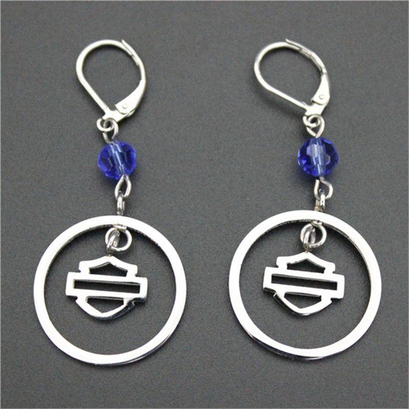 3pairs / lot 바이 커 스타일 뜨거운 판매 귀걸이 316l 스테인리스 패션 쥬얼리 모터 바이커 인기있는 디자인 크리스탈 귀걸이
