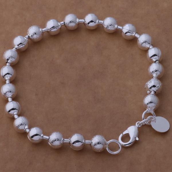 Livraison gratuite avec numéro de suivi Top Vente Bracelet en argent 925 Sable Avec perle de lumière flash Bracelet Bijoux en argent 20Pcs / lot pas cher 1585