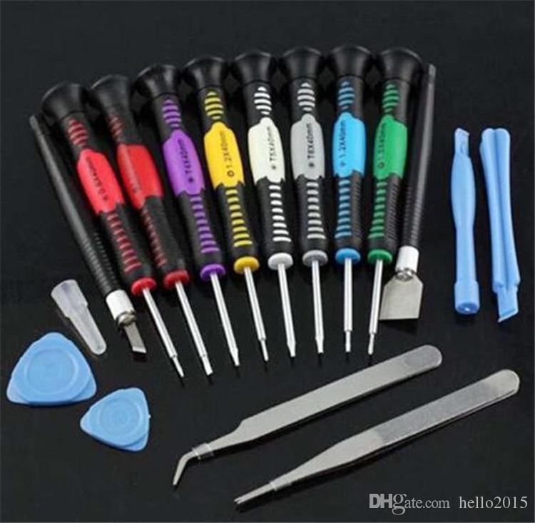 16 en 1 téléphone portable ouverture de réparation de téléphone portable outils tournevis Set Kit précision pour iPhone Samsung HTC Tablet outils à main