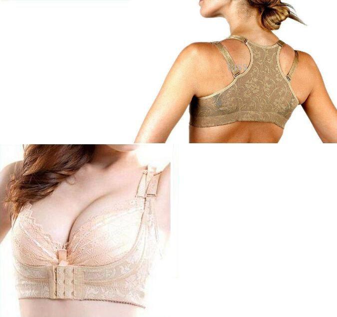 BRA BODY SHAPER Beige Amico CHIC shaper Push Up corsetti cotone SENO SOSTEGNO Bodie e bustier senza scatola al minuto