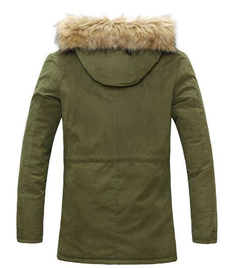 Männer s Kleidung Jacke Mens Warm Parka Pelzkragen Mit Kapuze Winter Dicke Ente Daunenmantel Outwear Daunenjacke Comfortabel Warm Heißer Verkauf Mode