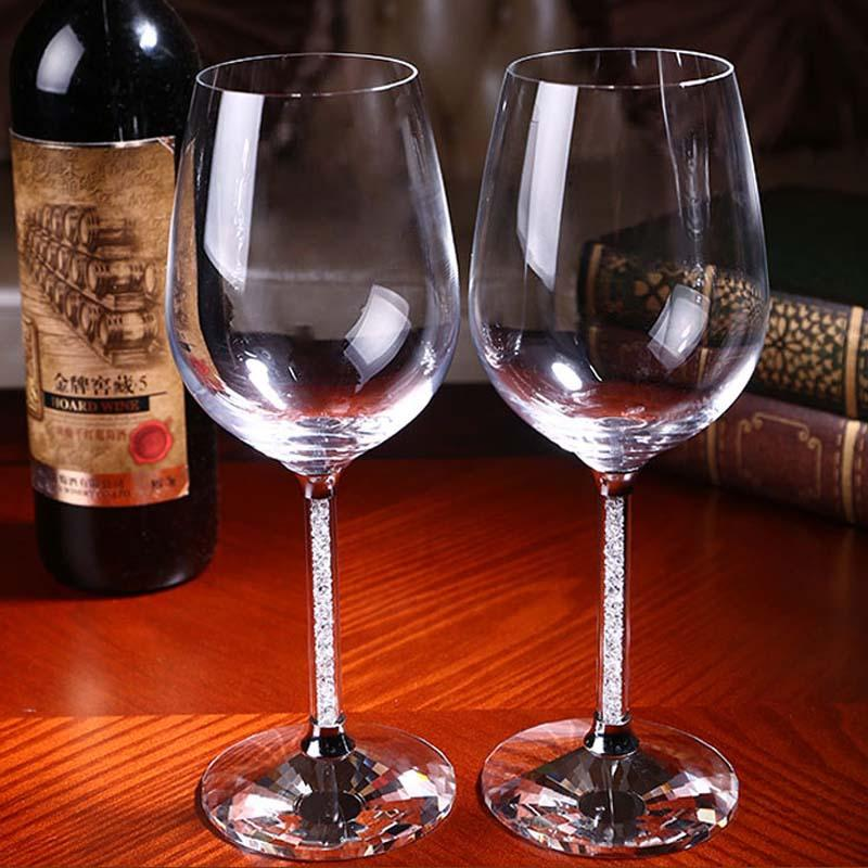 new crystal lead free champagne glasses for weddings or party/ lovers goblet Fashion Crystal Glass Red Wine Goblet Cup