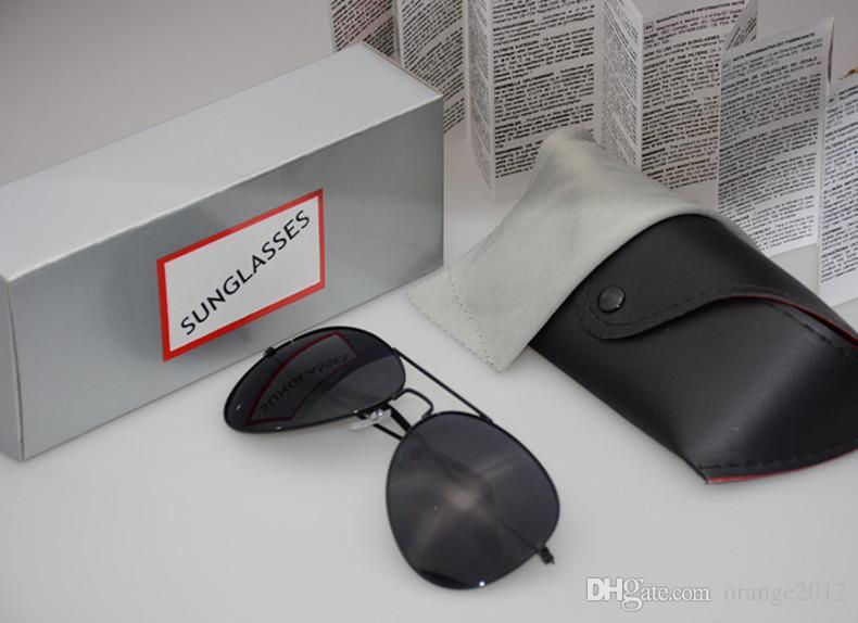 고품질 브랜드 디자이너 태양 안경 골드 프레임 미러 선글라스 패션 선글라스 UV 선글라스 파일럿 클래식 태양 안경