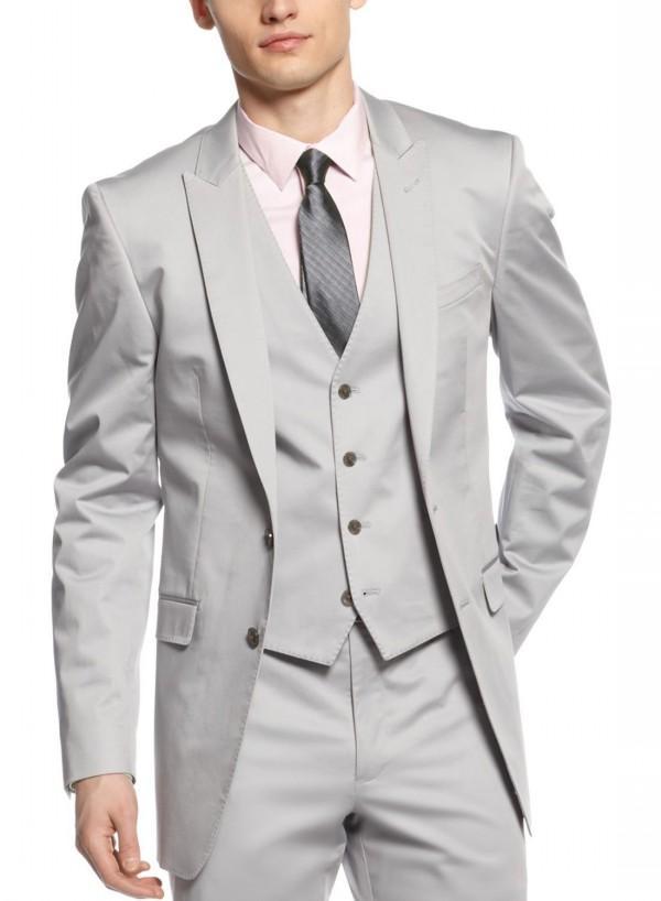 Mens Silver Suit - Hardon Clothes