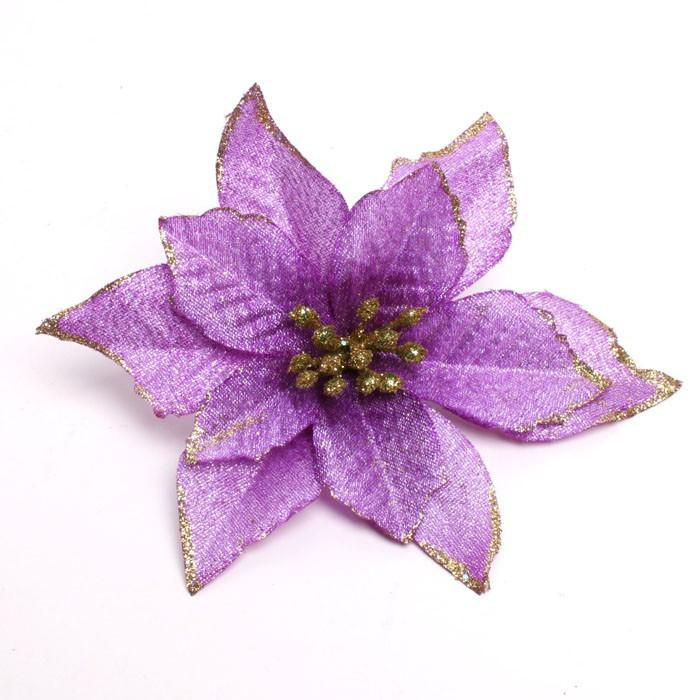 33 purple christmas flower