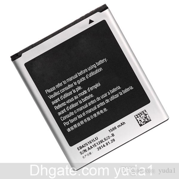 Original OEM S3 Mini Batterie EB425161LU S7562 I8190 S7568 I699 Handy Akku 1500mAh Kostenloser Versand Großhandel