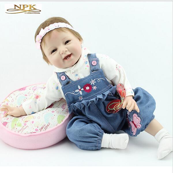 22 '' Reborn Baby Dolls Full Handmade карие глаза силиконовые виниловые новорожденные детские кукла детские игрушки мягкие девочки подарок