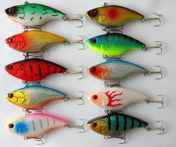 Haute Quanlity VIB Carppie Leurre de pêche 7,5CM / 16G Lumineux Minnow dur appâts doré pêche à la mouche de pêche leurres