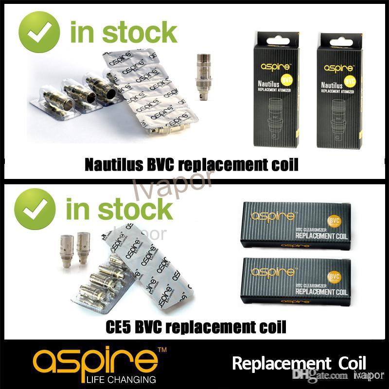 En stock Original Aspire BVC Bobines de rechange pour Aspire CE5 S ET S et Aspire Nautilus Coil Replacement Livraison gratuite