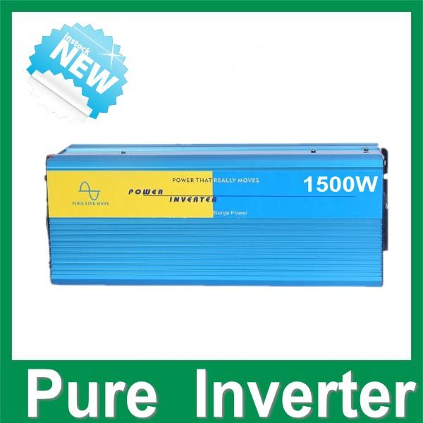 Pure Sine Wave Power Inverter 1500W Peak 3000W DC 24V naar AC 220 V 230V 240V DC AC Power Converter Gratis schip