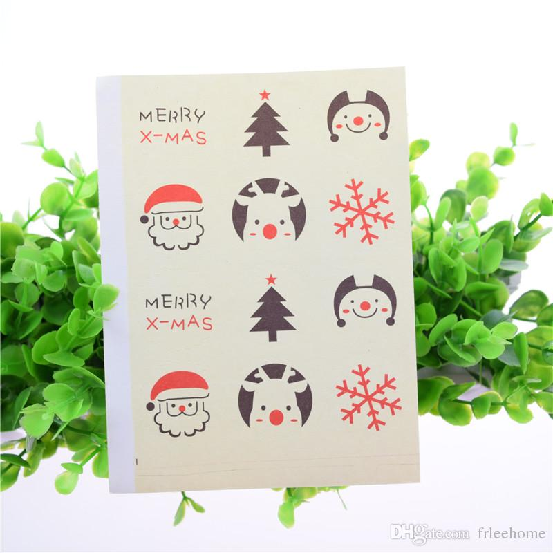 Christmas Tree Package DIY Seal Sticker Gift Sticker Gift Label T