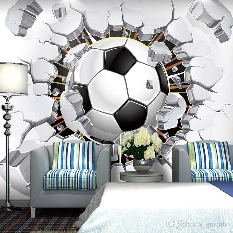 Football Photo Wallpaper Soccer Wall Mural 3D Wallpaper Passion For The  World Cup Boys Kids Room ...