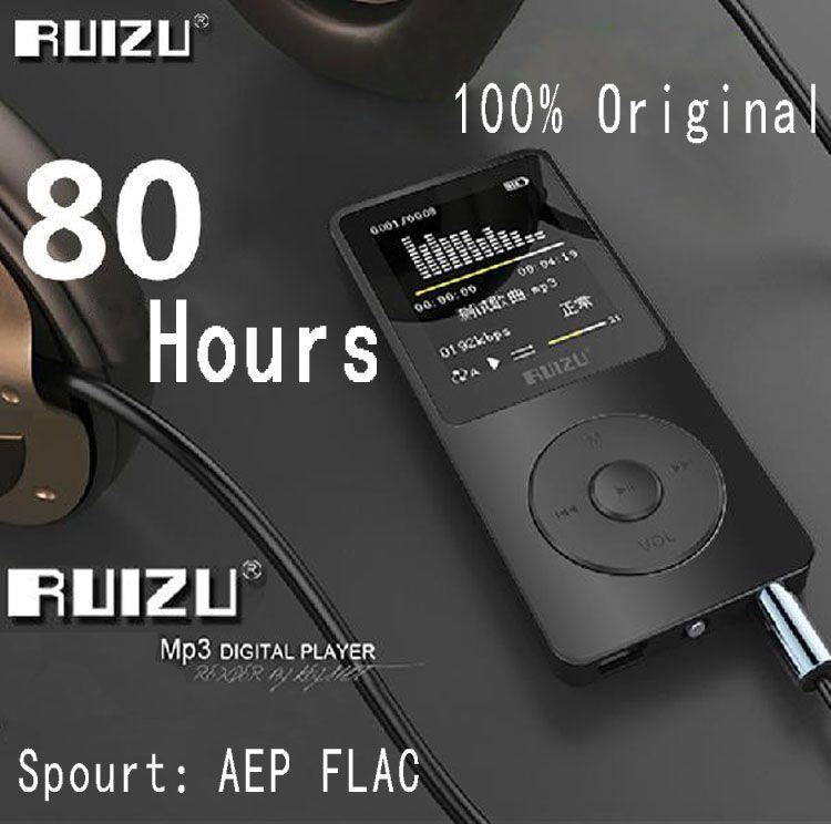 100% Reproductor de MP3 X02 RUIZU original con 1,8 pulgadas de pantalla se puede jugar 100 horas, 8 GB con FM, E-libro, un reloj, de datos