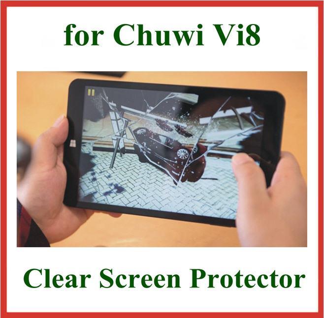 محفظة 5pcs كريستال حامي الشاشة للكمبيوتر اللوحي Chuwi Vi8 8 بوصة حجم 202.5x116.3mm فيلم واقية الحرس