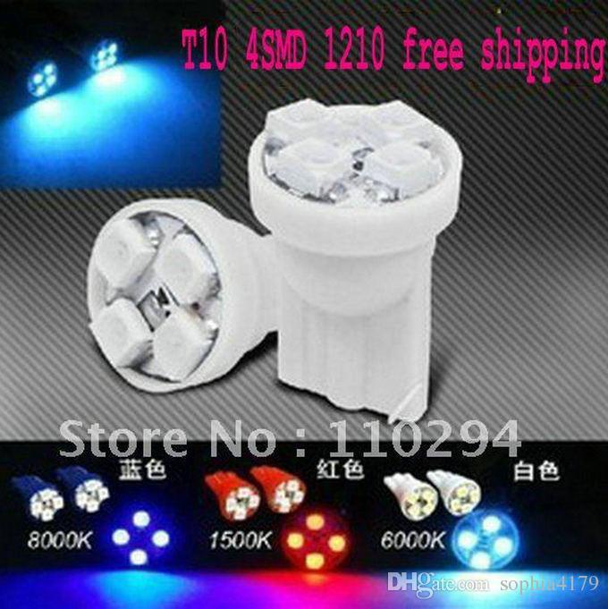 Förderung 500 stücke T10 4 SMD 1210 3528 4 LED Keil Glühbirnen Auto Lichter Mini Auto Licht gepäckraum Lampe DC 12 V / 24 V