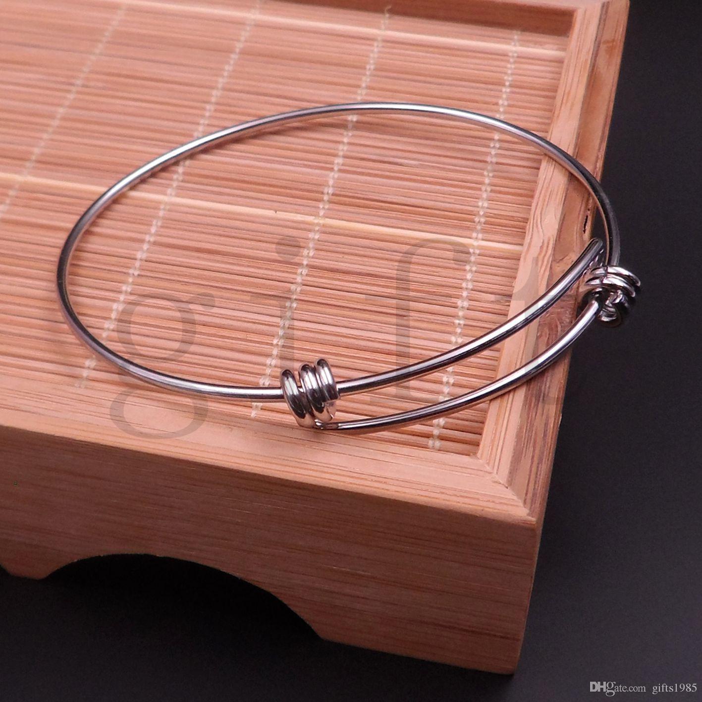 Оптовая мода девушка браслет Шарм упругие ювелирные изделия из нержавеющей стали браслеты DIY небольшие подвески связи