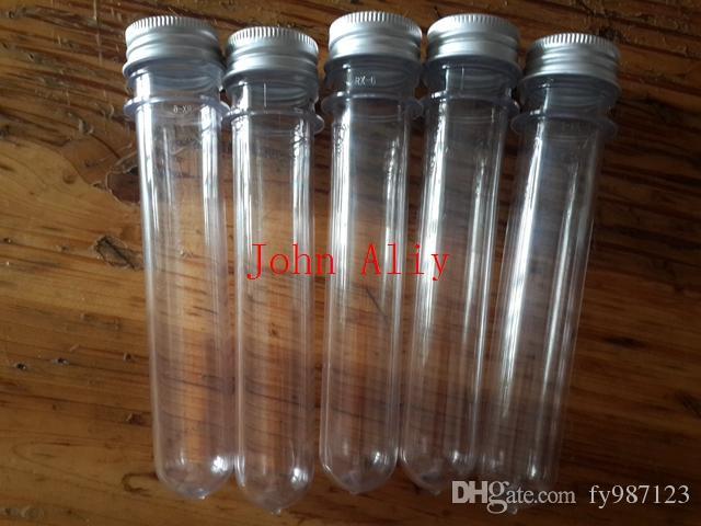 . Spedizione gratuita brand new 40ml trasparente maschera bagno sale test PET tubo 40ml trasparente plastica tubo cosmetico con tappo in alluminio