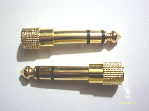 Adaptador de auriculares de oro 50PCS estéreo 1/4 pulgadas (6,3 mm) macho a 1/8 pulgadas (3,5 mm)