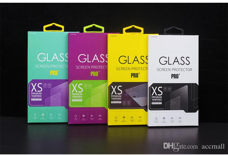 Retail Package Box Screen Protector Tempered Glass Armored Film Paper with Inner for iPhone 6 4.7inch 5 5S 4 4S Samsung S5 S4 Colorful DHL