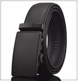 Kot Otomatik Toka Kayış Kemer Cintos Ücretsiz Nakliye İş Casual Kemer Adam Siyah Kahverengi Gerçek Deri Kemerler