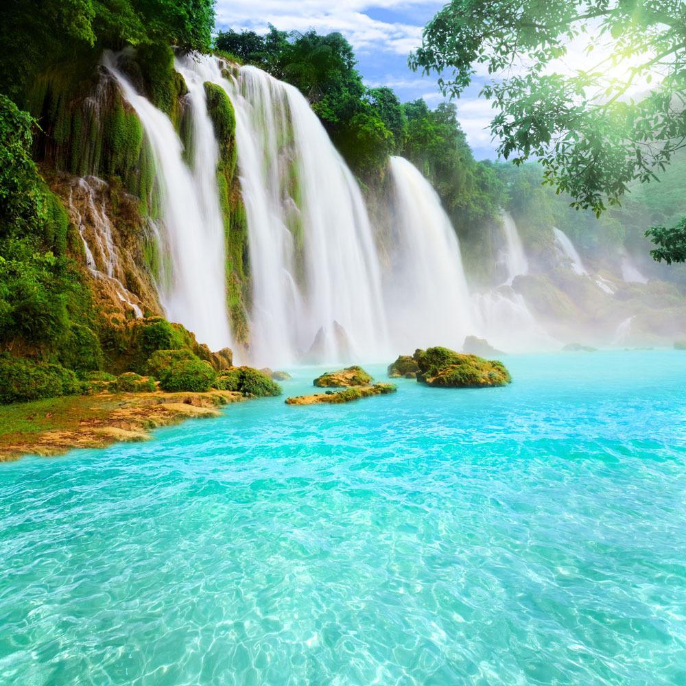 10×10フィートのビニールの注文の滝のテーマ写真の背景プロップデジタル背景JWA-08