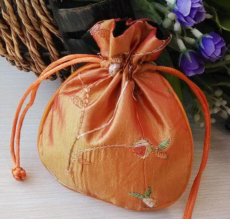 Nave libera 30pcs a mano di alta qualità 11 * 13cm Ricama Brocade Brocart sacchetto di gioielli sacchetti di caramelle Beads cerimonia nuziale del sacchetto del regalo del partito