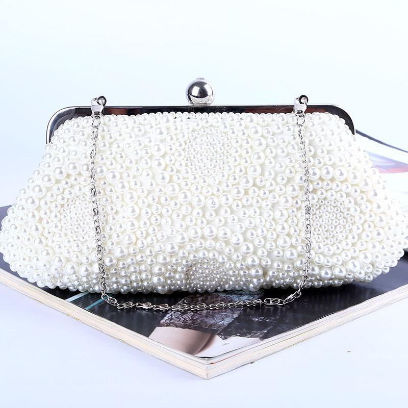 Fabrika / Perakendeci / Toptan yepyeni wellmade mükemmel boncuklu çanta / saten ile akşam çanta için düğün / ziyafet / parti / porm