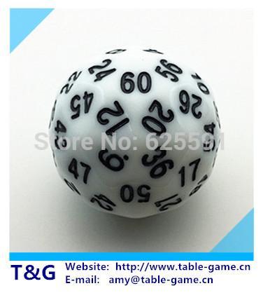 TG кости высокое качество Белый 60 двусторонняя D60 кости Brinquedos Juguetes подземелье и драконы rpg dd dados