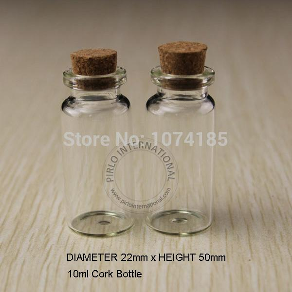 50 adet 10 ml Küçük Cam Şişeler Şişeler Mantar Mantarlar Tıpa Ile Mantarlar Dekoratif Corked Tiny mini Wising Cam Şişe Için Kolye