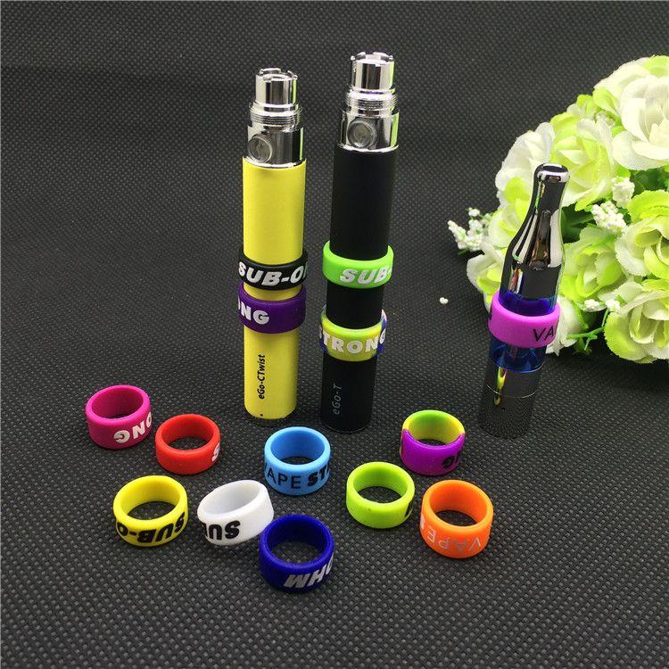 cinturini in ecig 13mm vape ring per batterie serie ego bande decorative e di protezione vape per ego vision spinner II evod