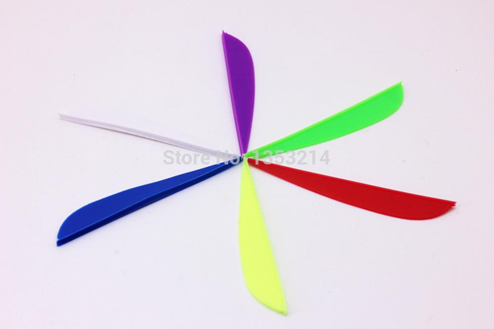 """Envío gratis 4 """"flechas de paleta de escudo de caza fletching variedad de colores NUEVOS 100 UNIDS"""