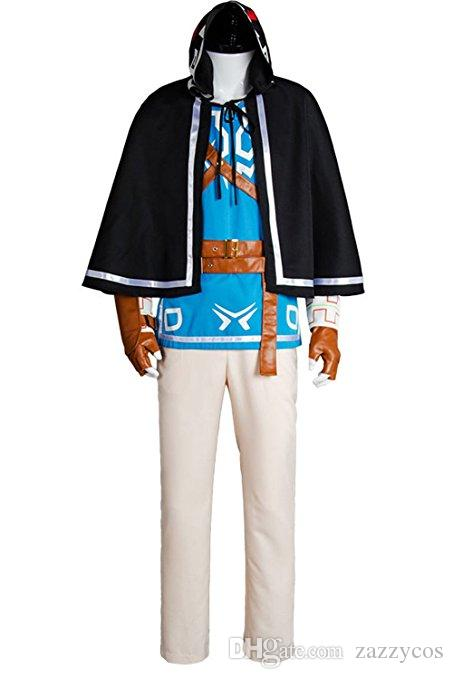 The Legend Of Zelda Breath Of The Wild Link Cosplay Uniform Suit Costume Outfit Blue Full Set Canada 2019 From Zazzycos Cad 113 36 Dhgate Canada