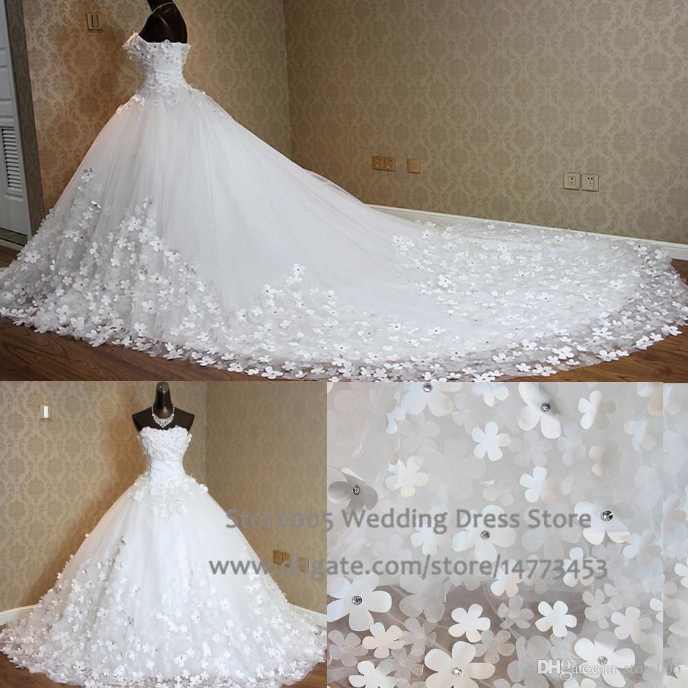 High Quality Ball Gown Real Photo Wedding Dress Pearls Handmade