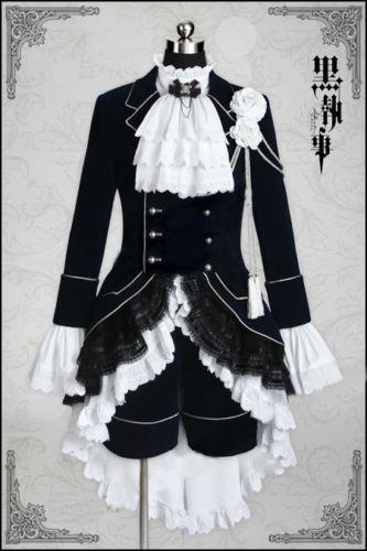 Vente chaude! Kuroshitsuji / Black Butler ciel phantomhive Cosplay Costume Anime Personnalisé Taille Livraison Gratuite