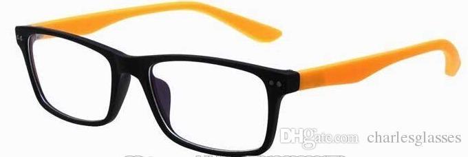 (10 teile / los) klassische nagelneue brillen rahmen bunte kunststoff optische rahmen plain eyewear gläser in recht gute qualität