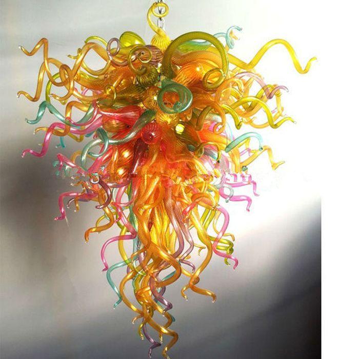 Chihuly 스타일 현대 미술 램프 샹들리에 이탈리아어 핸드 블로우 무라노 펜던트 램프 홈 장식 Led 유리 샹들리에