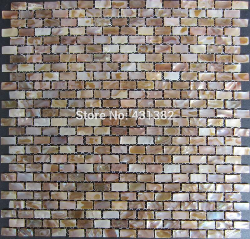 Natural shell mosaic tiles 10x20x2MM;mother of pearl tiles; kitchen backsplash tiles;bathroom wall tiles, decorate material