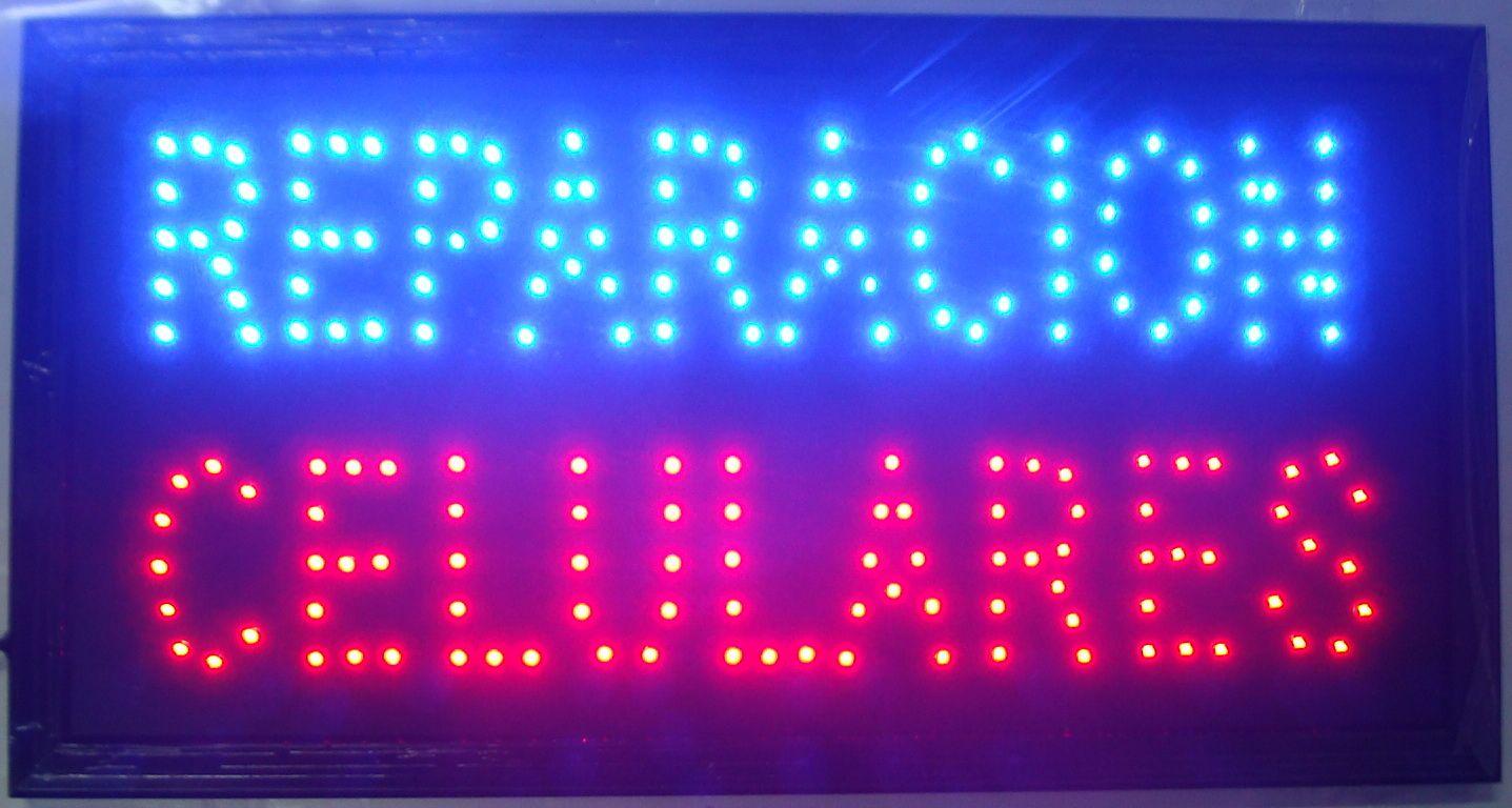 """무료 배송 뜨거운 판매 customerized 애니메이션 LED 보충 CELULARES 서명 보드 크기 19 x 10 """"네온 보수 전화 번호"""