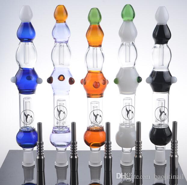 NC с GR2 титановым гвоздем NC Kit Цветной масляный концентрат Труба Стекло Нектар Коллектор Recycler Водяные бонги Мазки