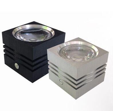 Dimmable 7W 12W высокой мощности привело светильник алюминия 86-265V AC поверхностного монтажа светодиодное освещение квадрат светодиодные светильники