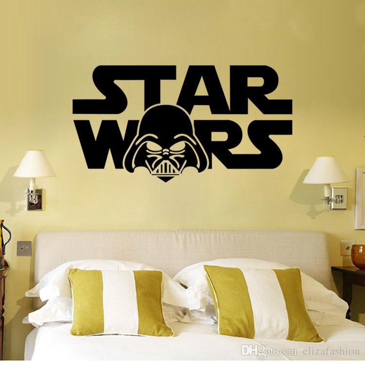 Star Wars Wall Decal Darth Vader Vinyl Sticker Boys Bedroom Wall ...