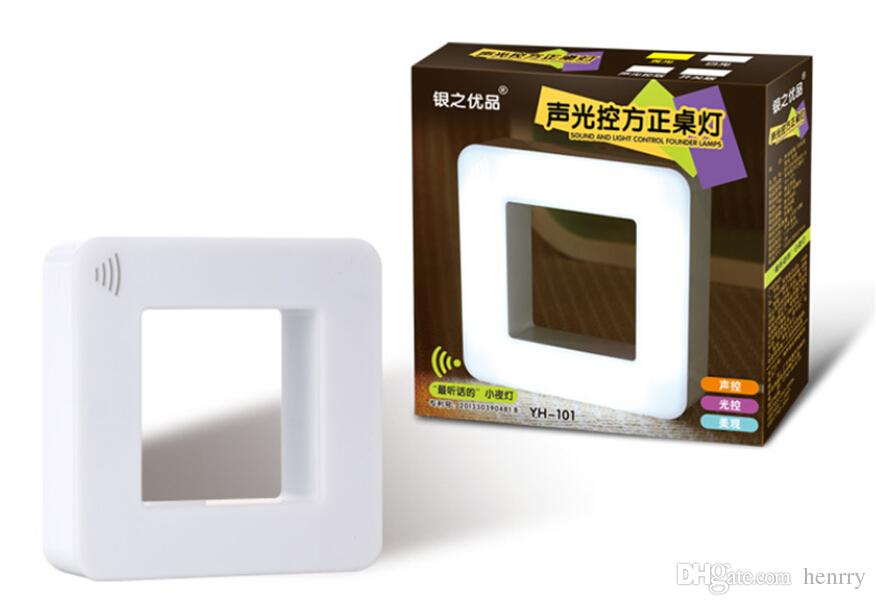 30pcs a bag Creative smart sensor night light baby night light LED energy-saving plug, sound and light control two in one box lights