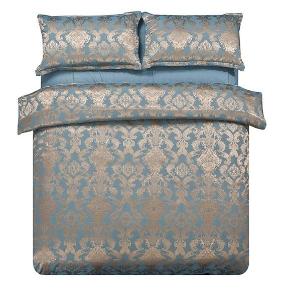 Textiles para el hogar de alta calidad de seda / algodón 4 piezas juego de cama Sábana de cama Edredón / Fundas de edredón Almohada Ropa de cama Ropa de cama King size