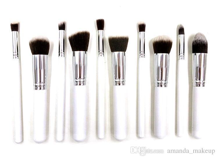 462a9d3253b1 Women Makeup Brush Set Professonal Kabuki Brush Cosmetic Brush White Color  Make Up Brush Kits Foundation Eyeliner Brushes Free Shipp Professional ...