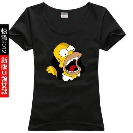 new 2014 free shipping print letters cartoon The Simpsons Homer Jay.  Simpson sitcoms female women 9cacd6f4a788