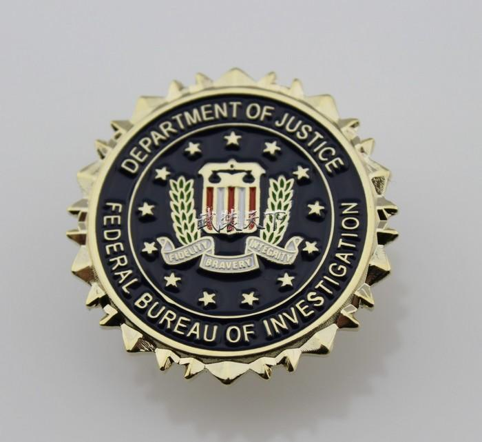 FBI Federal Bureau of Investigation Département de la justice Logo Sceau Costume Revers Pin