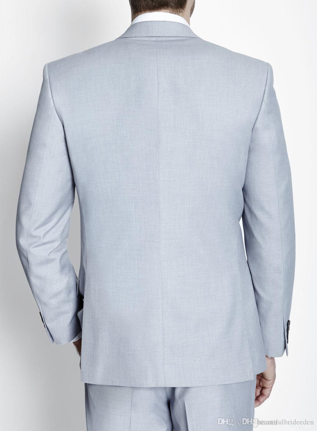 2016 Custom Made Suits Mens Suits Side Split Jacket+Pants+Tie+Vest ...