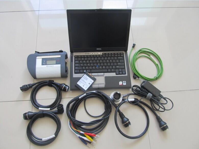 MB SD Diagnosi Star Star per strumento diagnostico Mercedes con laptop D630 360 GB SSD 2021.06V Il nuovo scanner per autocarri auto auto auto