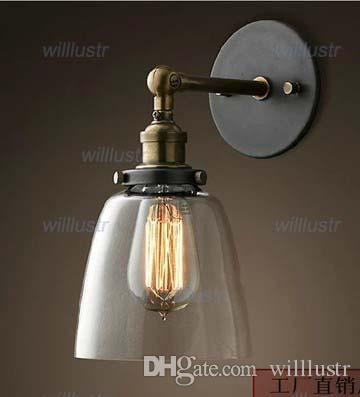 Lampa ścienna YC szklana kinkieta lampa lampa lampa fabryczna loft przemysłowy styl jadalnia pokój dzienny hotel Cafe Bar Light Vintage