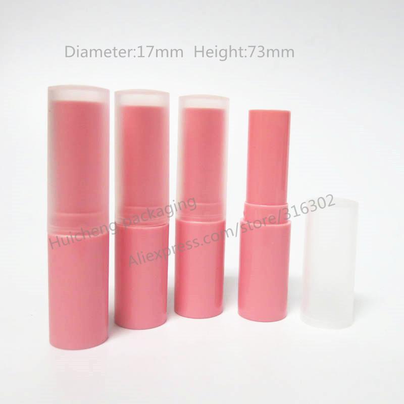 Envío gratis - 24pcs / lot 4G High PinkColor pp Lip Balm Cream Tube, Mini contenedor de bálsamo labial de plástico, Cosmetic Container